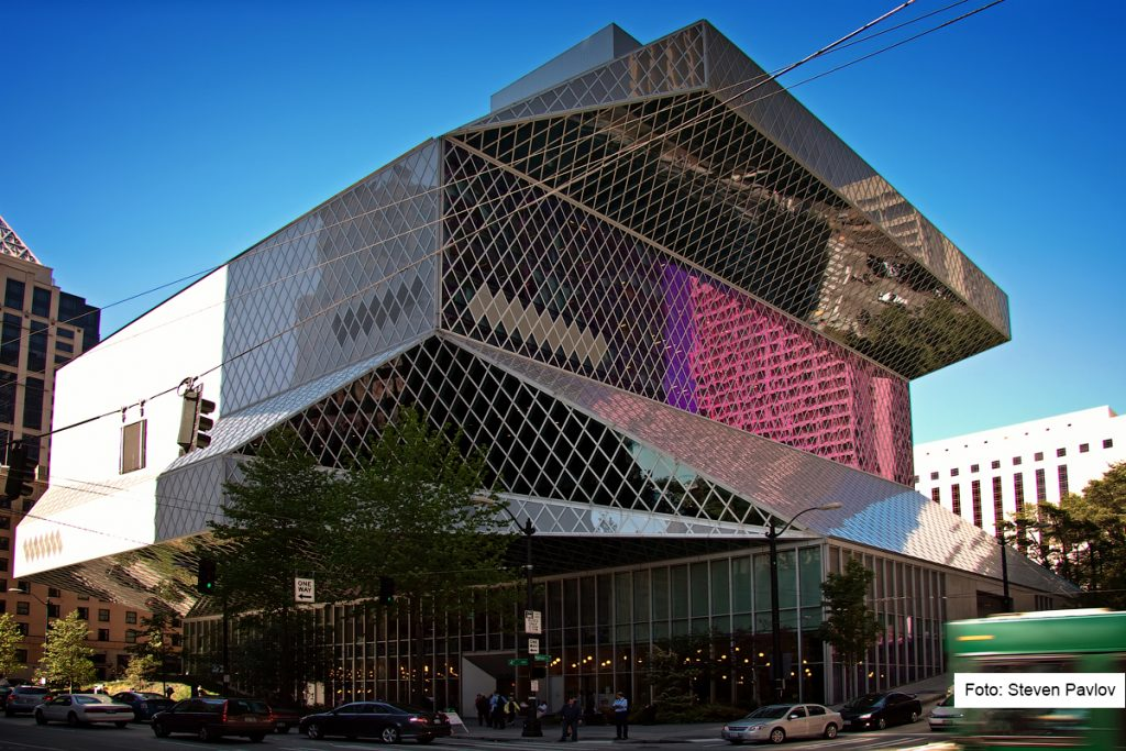 Seattle Public Library. Taken by Steven Pavlov.