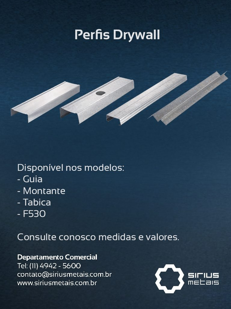 Perfis Drywall - Depto Comercial